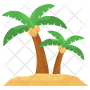 Palm Trees Island Beach Icon