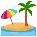 Tropical Island Island Paradise Icon