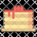 Pancake Cake Cherry Icon
