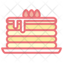 Pancake Cake Cherry Icon