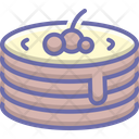 Pancake Raspberry Pastry Icon