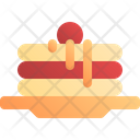 Pancake Dessert Meal Icon