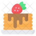 Pancake Cake Strawberry Icon