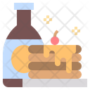 Pancake Breakfast Bakery Icon