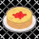 Pancake Sweets Strawberry Icon