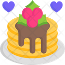 Pancake Breakfast Dessert Icon