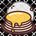Pancake Honey Cake Dessert Icon