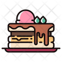 Pancake Cake Cream Icon