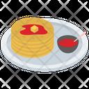 Pancake Griddle Cake Breakfast Cake Icon