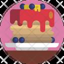 Food Pancake Blue Berries Icon