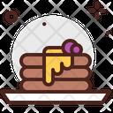 Pancakes Blue Berry Pancake Cake Icon