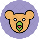 Panda Face Cartoon Icon