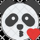 Panda Blowing A Kiss Icon