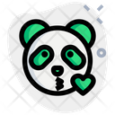 Panda Blowing A Kiss Animal Wildlife Icon