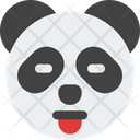 Panda Closed Eyes Tongue Icon