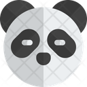 Panda Closed Eyes Without Mouth Icon