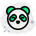 Panda Closed Eyes Without Mouth Animal Wildlife Icon