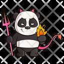 Panda Dress Up Like A Devil Icon
