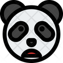 Panda Frowning Open Mouth Icon
