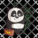 Panda Holding Briefcase Icon