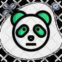 Panda Neutral Animal Wildlife Icon