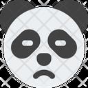Panda Sad Face Icon