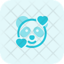 Panda Smiling With Hearts Icon
