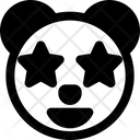 Panda Star Struck Icon