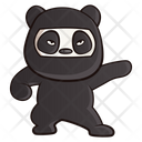 Panda Wearing Ninja Dress Icon