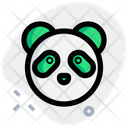 Panda Without Mouth Animal Wildlife Icon