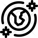 Pandemic World Virus Icon