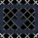 Ux Flow Panel Move Down Duotone Icon