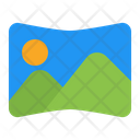 Panorama Nature Landscape Icon