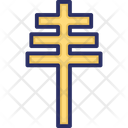 Papal Cross Symbol Icon