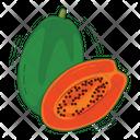 Papaya Fruit Fresh Icon