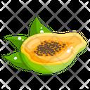 Papaya Fruit Healthy Food Icon