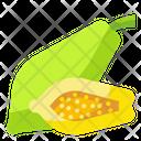 Papaya Fruit Food Icon