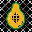 Papaya Pawpaw Slice Icon