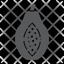 Papaya Fruit Tropical Icon