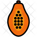 Papaya Half Fruit Icon
