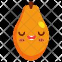 Papaya Fruit Face Icon