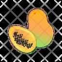 Papaya With Slice Papaya Fruit Icon