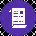 Paper Report Document Icon