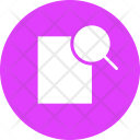 Paper Magnifier Find Icon