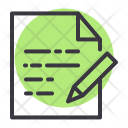 Paper Document Education Icon