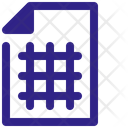 Paper Grid Drawing Icon