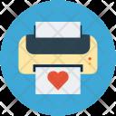 Paper Print Love Icon