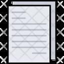 Paper File Data Icon