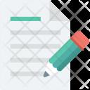 Paper Pencil Sheet Icon
