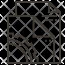 Paper Design Stationery Icon